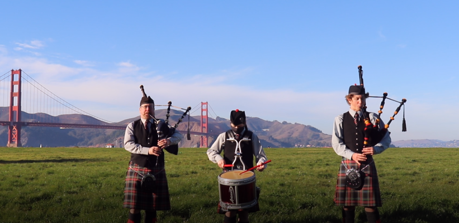 The Coopers Bagpipers In Crissy Fields